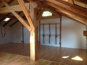 wood yoga studio