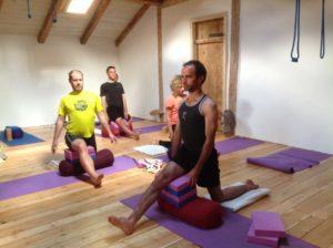 yoga studio french alps