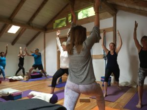 morning practice french alps yoga retreat
