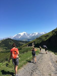 french alps yoga and hiking