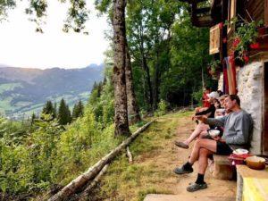views outside yoga retreat france