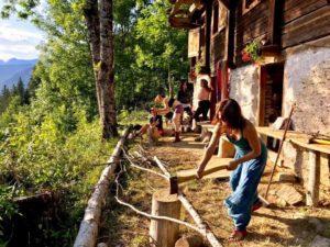 outdoor activities off grid yoga retreat