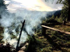 campfire yoga and hiking retreat
