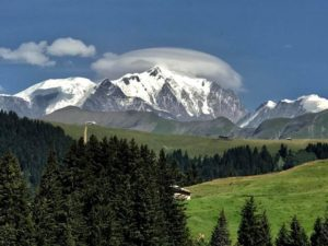 mont blanc in the summer